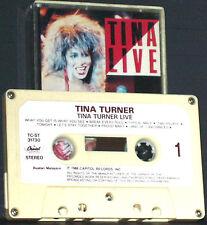TINA TURNER TINA LIVE IMPORT MALAYSIA CASSETTE ALBUM EMI CAPITOL CLAPTON BOWIE
