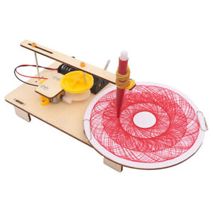 Electric Plotter Drawing Robot Model Kids Science Educational Toy Kit