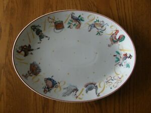 Williams Sopnoma 12 Days of Christmas Oval Serving Platter-Cookie Tray-New