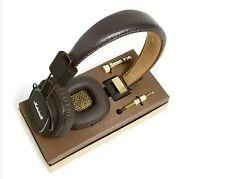 2014 Marshall Major Stereo Headphones with microphone BROWN, ORIGINAL RETAIL BOX