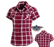 "Country Western Bluse ""Doreen"" - Stars&Stripes Gr. M-3XL Kurzarmbluse - 2. Wahl"