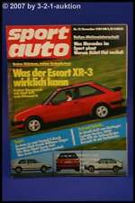 Sport Auto 12/80 Ford Escort XR 3 VW Golf 16 V Alfa GTV