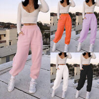 Women Sweatpants Homewear Trousers Loose Warm Plush Sports Pants Size S-3XL