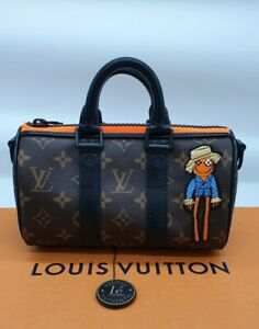 "Louis Vuitton Keepall XS Virgil Abloh ""Zoom with friends"" Authentic LV Brand New"