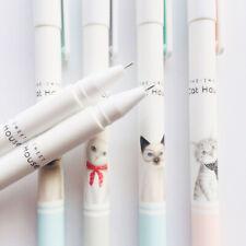 10X Cute Little Cat Kitten Gel Pen Rollerball Pen School Stationery Black