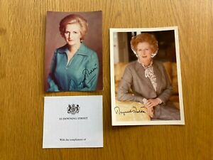Two Margaret Thatcher Signed Photos