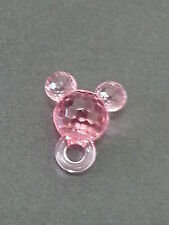 50  MICKEY MOUSE EARS 50 beads acrylic plastic loose beads