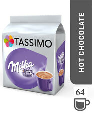 Tassimo Milka Hot Chocolate Dosettes a Cafe T-discs Paquet de 8 64 Boissons
