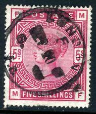 United Kingdom 1883 QV 5 Shilling Rose on White Paper Scott # 90a VFU U485