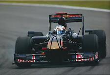 Jaime ALGUERSUARI In Person SIGNED Toro Rosso Autograph 12x8 Photo AFTAL COA