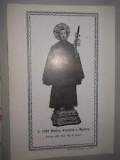 SANTINO HOLY CARD S. Ciro Medico Real Villa Portici mm. 135x193 (1188gg)