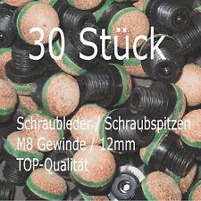+++ Billard Schraubleder Schraubspitzen M8-Gewinde 12mm kostenloser Versand +++