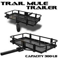 "2"" Hitch Mule Trailer Folding ATV UTV Cart 300LBS Tow Camp Hunting Camping Trail"