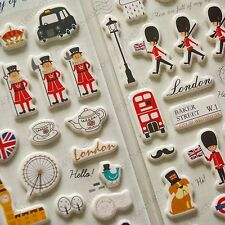 STAMPS DESIGN LONDON ONE SHEET BEAUTIFUL STICKERS #CASTILLOS ENGLAND