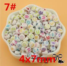 Wholesale100-2000pcs Mixed Alphabet/Letter Acrylic Multi shape Beads  Full Size