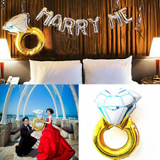 Fashion Marry Me Diamond Ring Foil Helium Balloon Wedding Hen Party Decoration