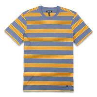 Stance Mens Stripe Pocket T-Shirt Yellow Blue M New