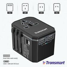 TRONSMART 33W CE ADATTATORE CORRENTE UNIVERSALE PRESA SPINA 2 USB + 1 TYPE-C
