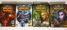 WoW Warcraft Game Expansion Lot Burning Crusade Wrath Lich King Cataclysm No Key
