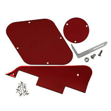 Red Mirror Style LP Guitar Pickguard Set with Bracket for Les Paul Guitar