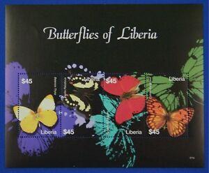 B001 LIBERIA 2007 Butterflies Mini-Sheet Mint NH