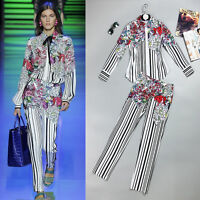 Women RUNWAY designer inspired jacket and skirt two pieces plus size