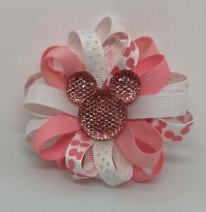 BELLA Glitter Accesories Hair Accesories Minnie Pink Sparkles Double Bow