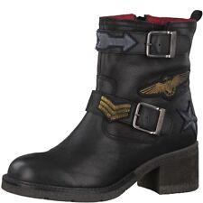 s.oliver Damen Biker Boots Stiefelette 25379 schwarz