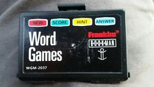 Franklin Bookman card wgm2037 word games