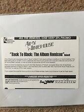 AMY WINEHOUSE - BACK TO BLACK THE ALBUM REMIXES- CD2 - Promo Disc