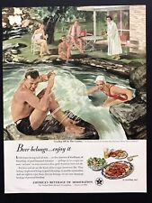 1950 Vintage Print Ad United States Brewers Foundation Swimming Pool Party