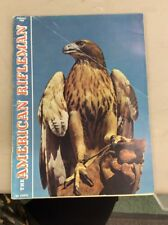 American Rifleman Magazine Vintage Aug 1965 Hawk On Cover Hunting In Indiana