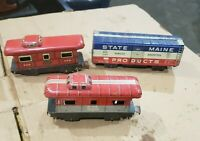 Vintage Marx Train Cars Caboose Ney York Central NYC Parts