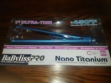 "Babyliss PRO 1"" Ultra Thin Nano Titanium Flat Iron BABNT3072TN Hair Straightener"