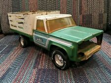 Vintage Nylint Farms Chevy Stake Truck Green Pressed Steel 70s Retro