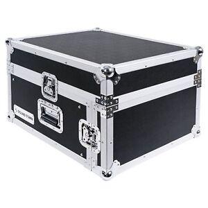 Sound Town 4U Rack Road Case 13U Slant Mixer Top 23.5'' Rackable Depth (STMR-4U)