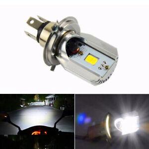 H4 Weiß LED Motorrad Scheinwerfer Birne Fern/Abblend-Glühbirne Lampe HS1
