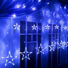 Blue Twinkle Stars Fairy String LED Lights Shop Curtain Window Party Decorations