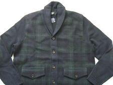 POLO RALPH LAUREN Men's Wool-Cashmere Blend Tartan Shawl Cardigan Sweater XXL