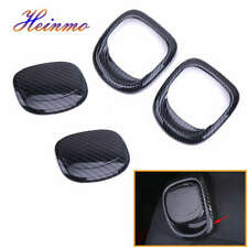 4PCS Carbon Seat Back Release Handle Cover Trims For MINI Cooper S F55 F56 F57