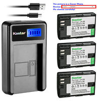 Kastar Battery LCD USB Charger for Canon LP-E6 LP-E6N & EOS 60D EOS 60Da EOS 70D
