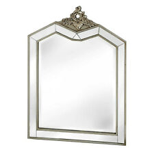Annabelle French Silver Gilt Shabby Chic Vintage Distressed Bevelled Wall Mirror