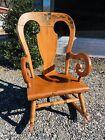 Tell City Rocking Chair - Antique Farmhouse Style Porch Rocker - Balloon Back