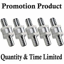 TOP! 5Pcs Aluminium Fuel Non Return Check Valve One Way Petrol Diesel 12MM 1/2""