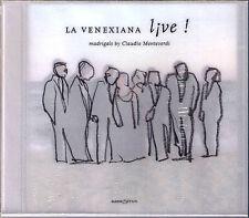 Monteverdi Madrigal LA VENEXIANA Live 2002 Claudio Cavina glossa CD NUOVO OVP