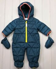 Baby Boys Clothes TED BAKER Warm Snowsuit Pramsuit All-In-One 3-6 Months Ex Con