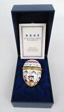 Halcyon Days Disney Mickey & Friends in Hot Air Balloon Enamel Egg Trinket Box