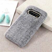 Cute Warm Furry Fluffy Case for Samsung Soft Faux Fur Back Shell