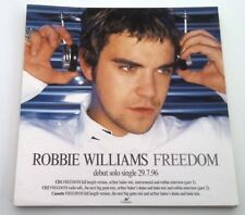 ROBBIE WILLIAMS Freedom ORIGINAL SHOP PROMO DISPLAY size:12x12 inches
