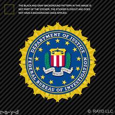 Department of Justice FBI Sticker Decal Self Adhesive Vinyl federal bureau